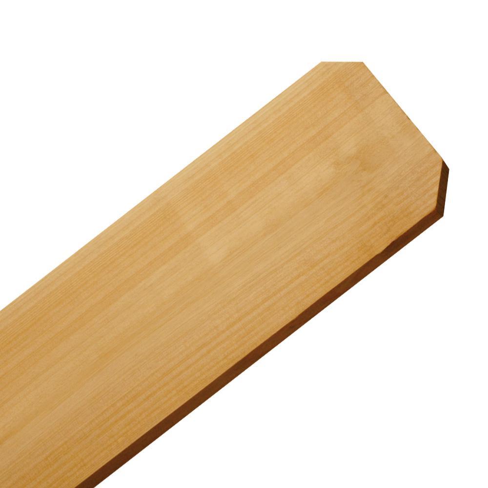 5/8 in  x 6 in  x 6 ft  Cedar Dog Ear Fence Picket (6-Pack)