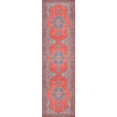 Afshar AFS12 Red 2 ft. x 8 ft. Runner Rug