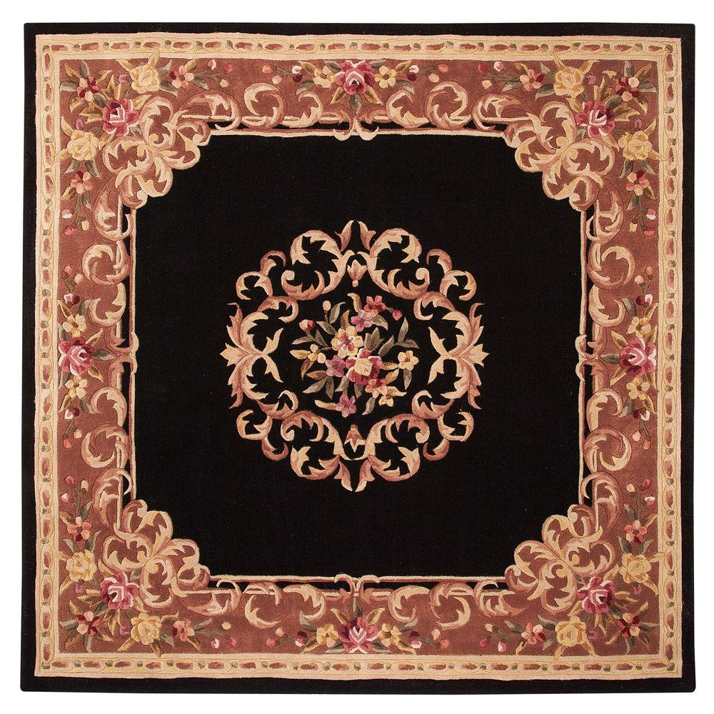 Home Decorators Collection Calais Black 7 ft. 9 in. Square Area Rug