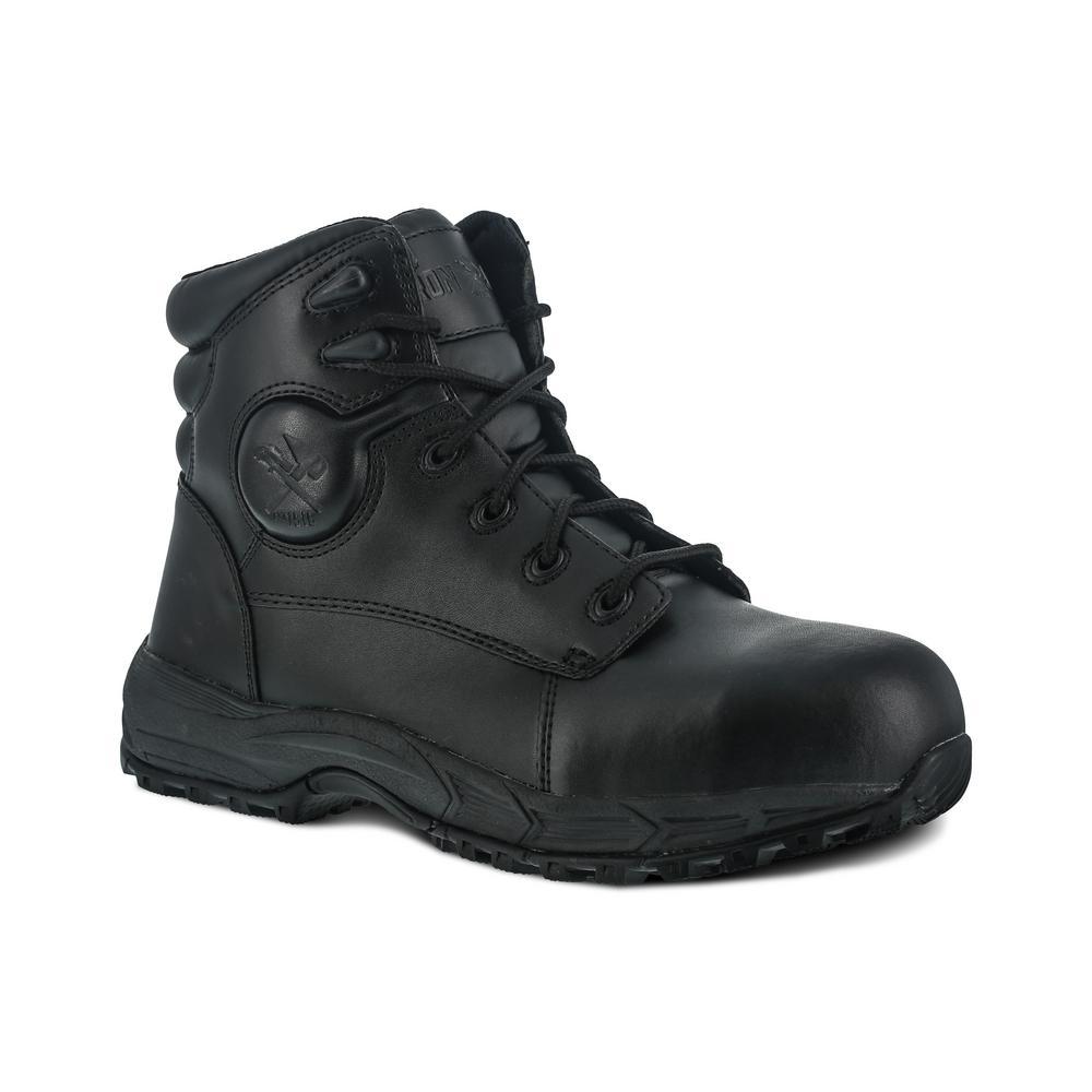 Work Boot - Steel Toe - Black Size