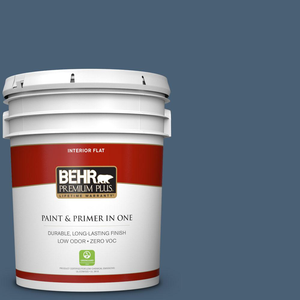 5 gal. #PPU14-19 English Channel Zero VOC Flat Interior Paint