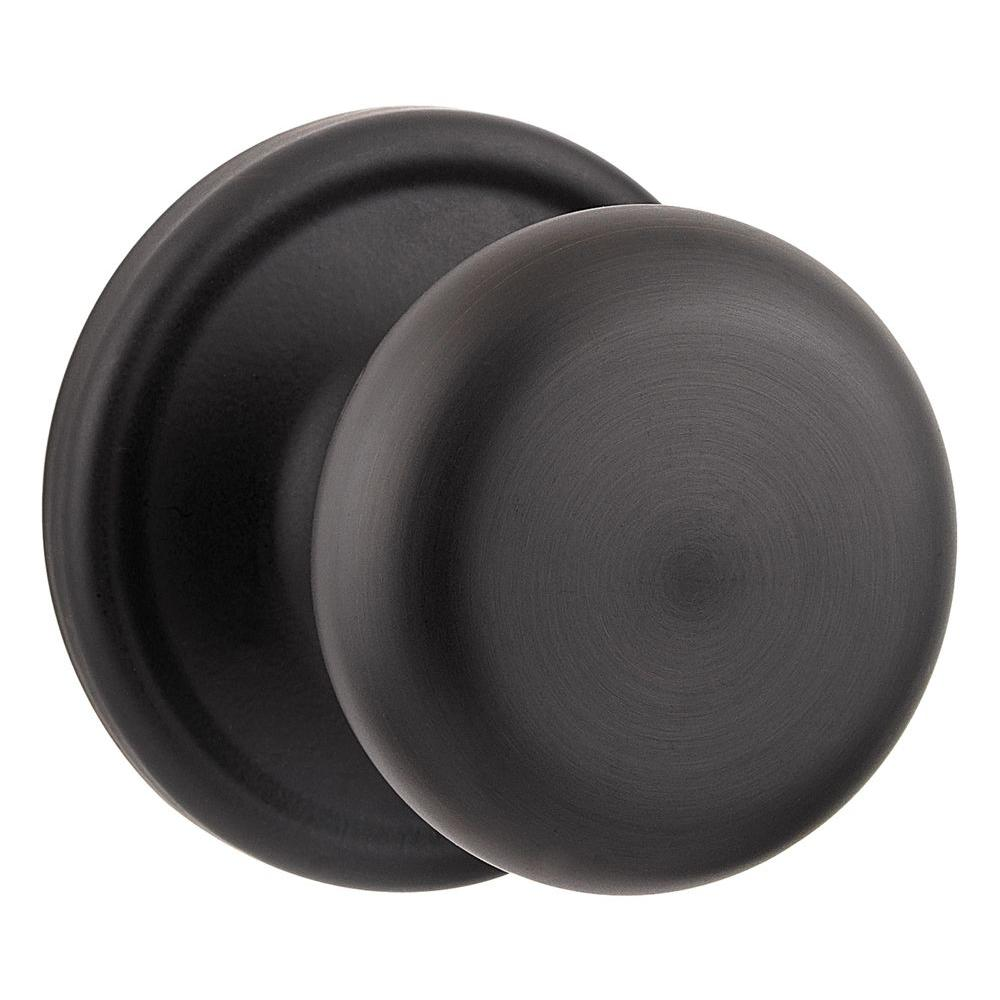Kwikset Hancock Iron Black Passage Hall/Closet Door Knob