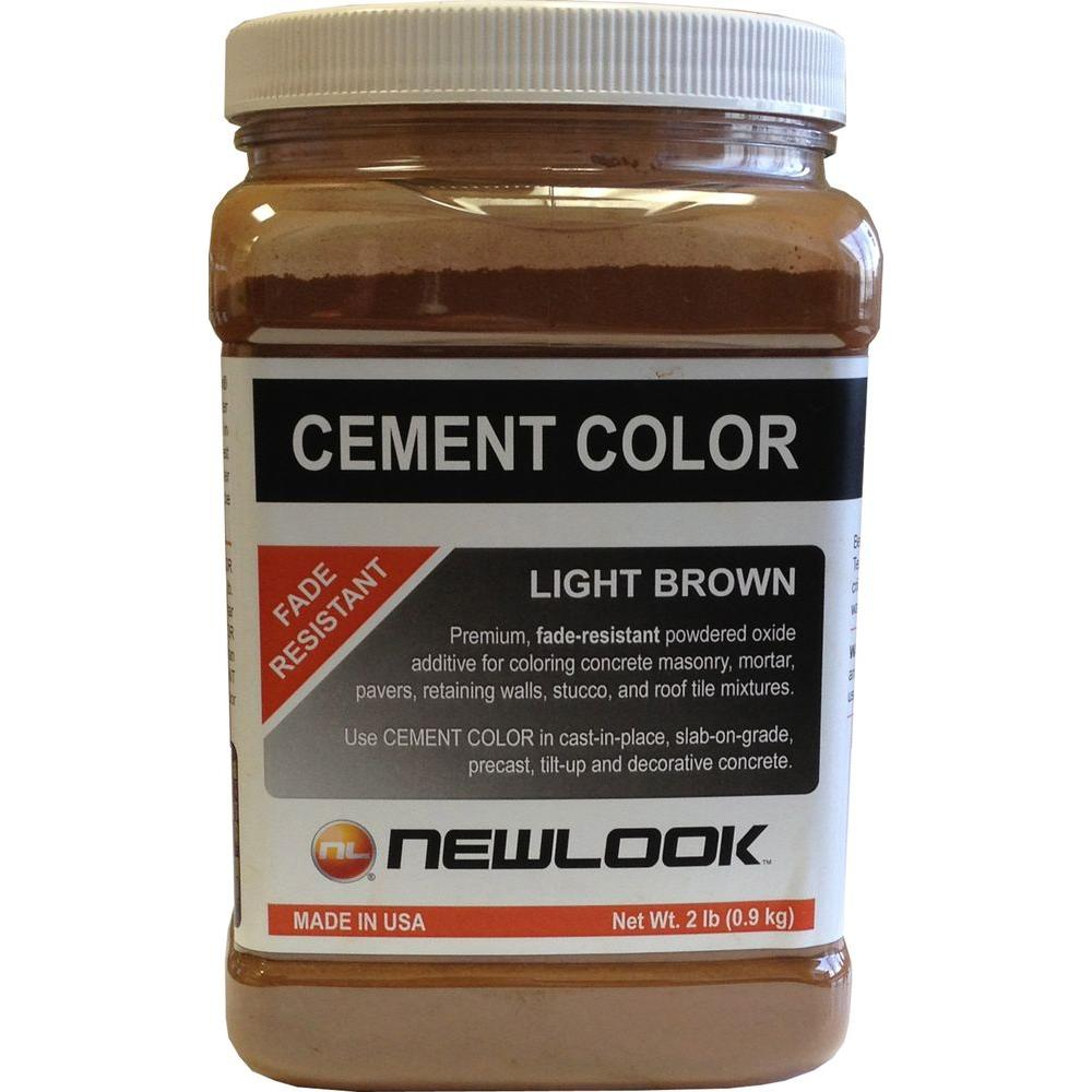 2 lb. Light Brown Fade Resistant Cement Color