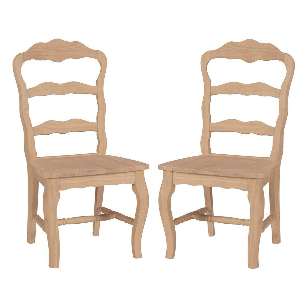 International Concepts Versailles Unfinished Wood Side Chair (Set of 2)  sc 1 st  The Home Depot & International Concepts Versailles Unfinished Wood Side Chair (Set of ...