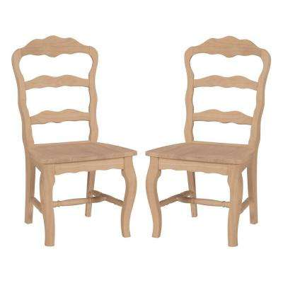 Versailles Unfinished Wood Side Chair (Set of 2)