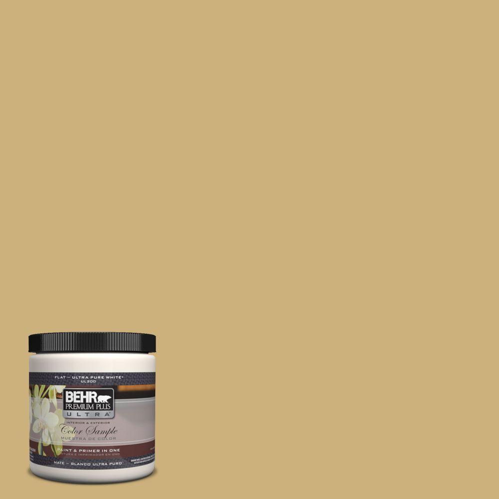 BEHR Premium Plus Ultra 8 oz. #360F-4 Dry Sea Grass Interior/Exterior Paint Sample