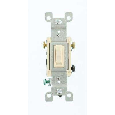 15 Amp 3-Way Toggle Switch, Light Almond