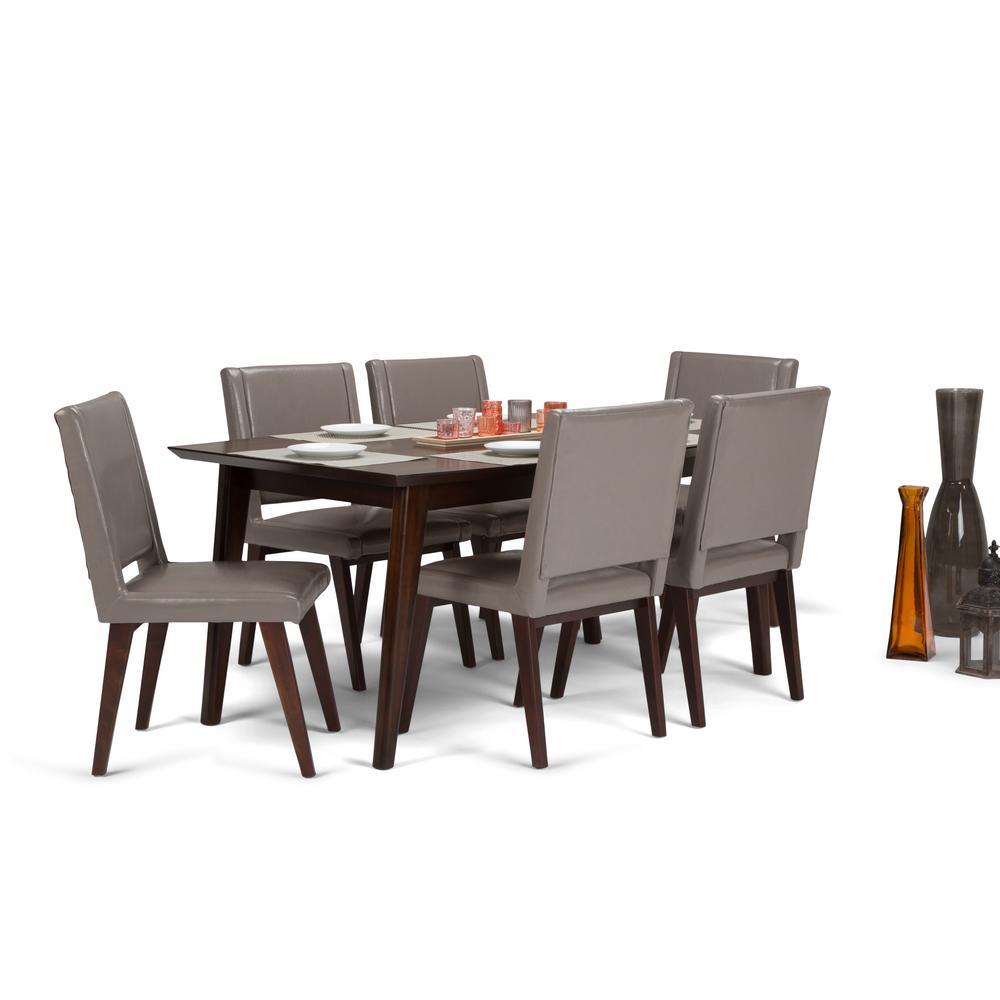 Mid Century Dining Room Sets: Simpli Home Draper Mid Century 7-Piece Taupe Dining Set