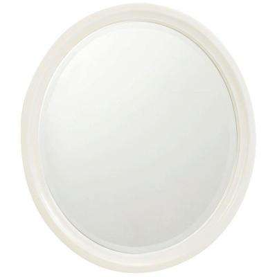 Newport 32 in. L x 28 in. W Framed Wall Mirror in Ivory