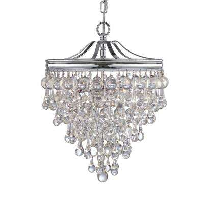 Calypso 3-Light Chrome Mini Chandelier