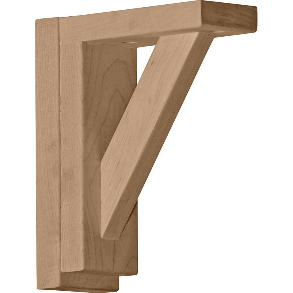 2-1/2 in. x 6-1/4 in. x 7-1/2 in. Rubberwood Traditional Shelf Bracket