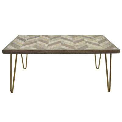 21.5 in. Brown Coffee Table