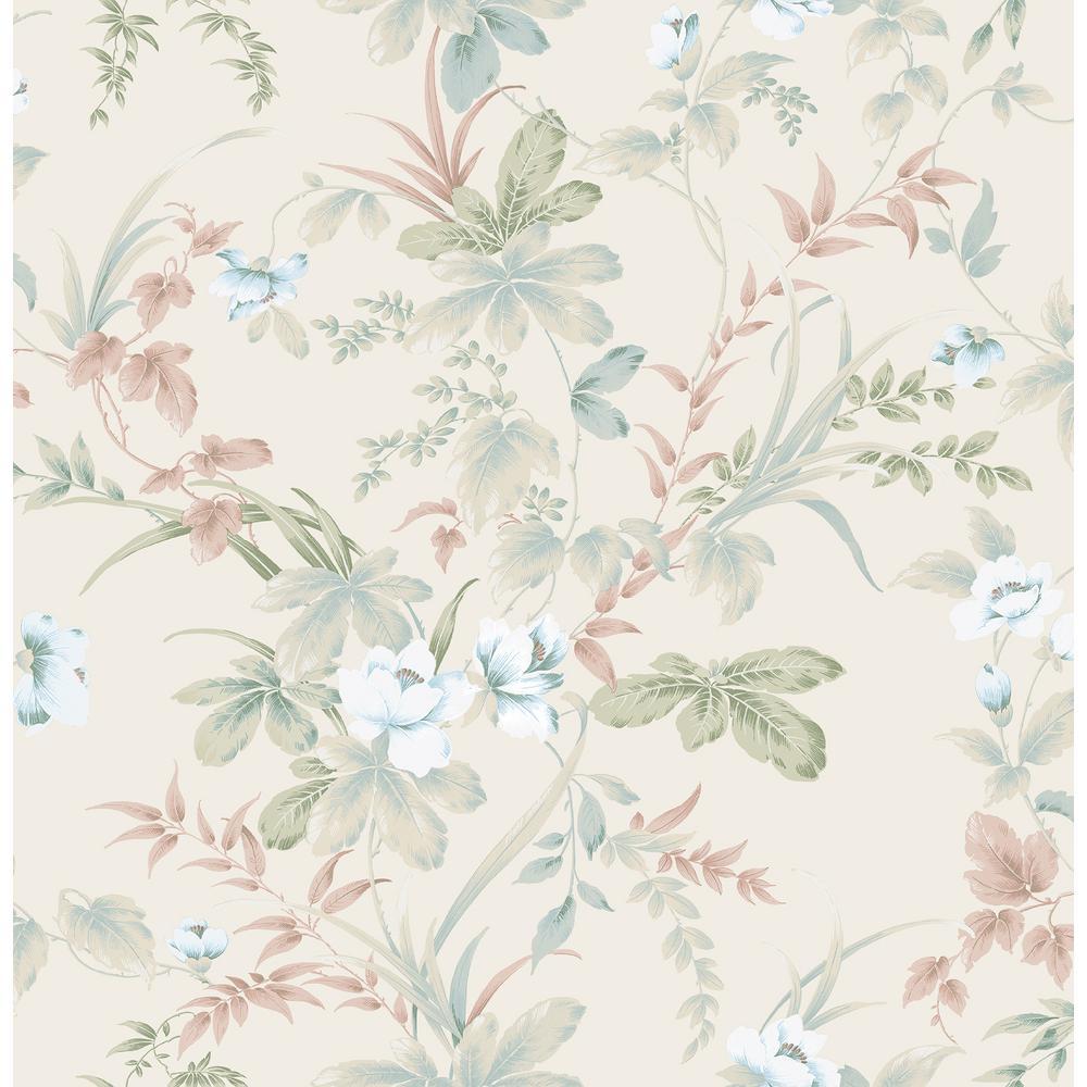 Begg Rock Cream Botanical Wallpaper