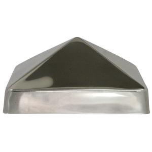 6 in. x 6 in. Stainless Steel Pyramid Slip Over Fence Post Cap