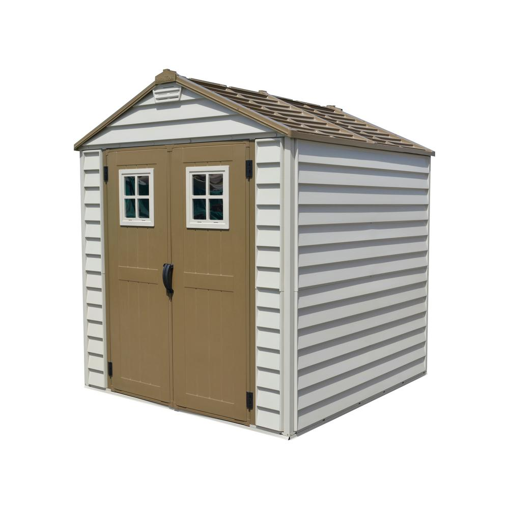 Vinyl Storage Shed  sc 1 st  Home Depot & Plastic Sheds - Sheds - The Home Depot