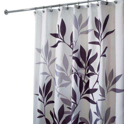 purple and grey shower curtain. Leaves Shower Curtain in Black and Gray Curtains  Accessories The Home Depot