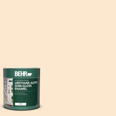 Behr 1 Qt M230 2 Fair Ivory Semi Gloss Enamel Urethane Alkyd Interior Exterior Paint 390004 The Home Depot