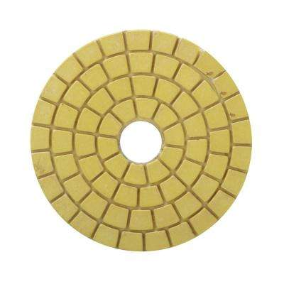 4 in. White Resin Wet Polishing Pad Final Buff