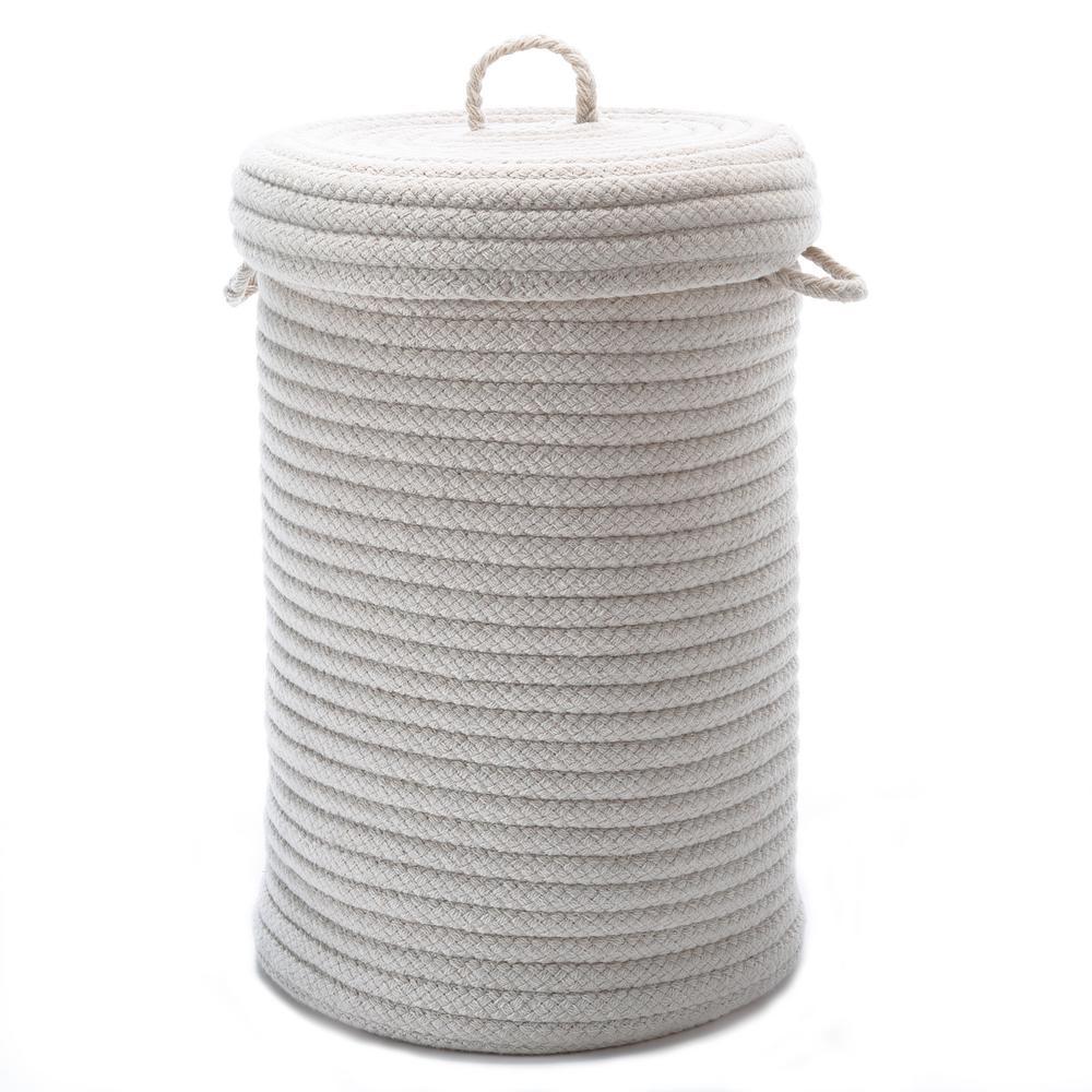 16 in. x 16 in. x 24 in. Natural Blended Wool Hamper