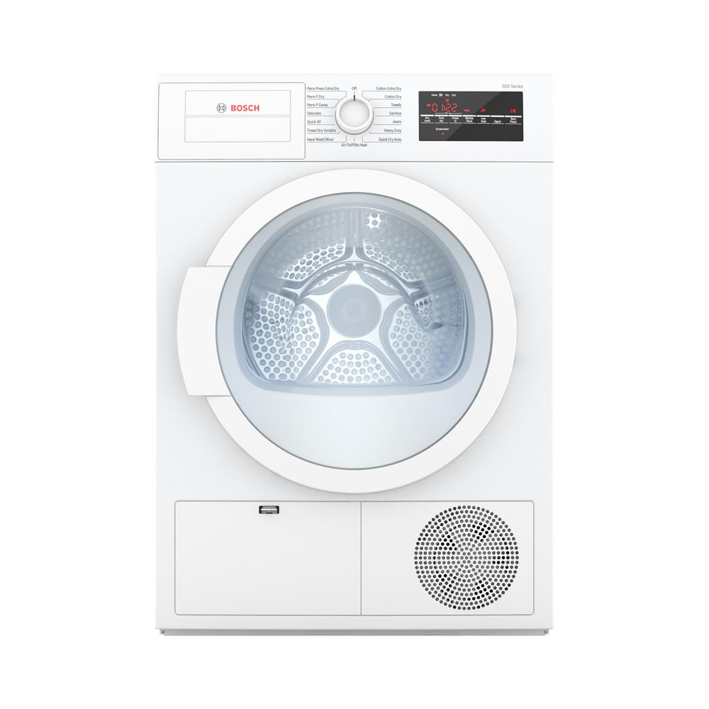 Bosch 300 Series 24 in. 4 cu. ft. White Electric Condensation Compact Dryer