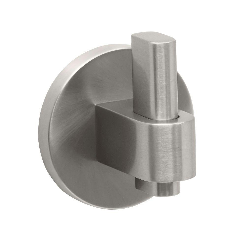 Zone Single Robe Hook in Satin Nickel