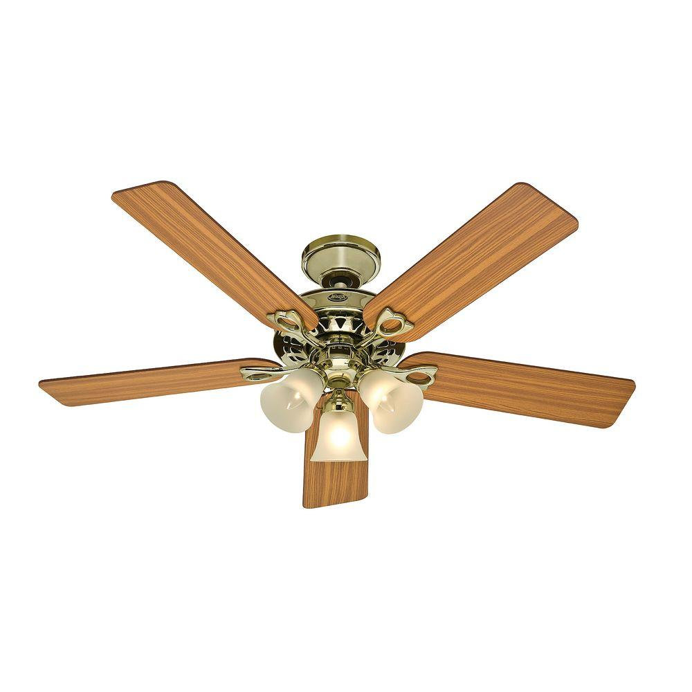 Hunter Sontera 52 in. Bright Brass Ceiling Fan-DISCONTINUED