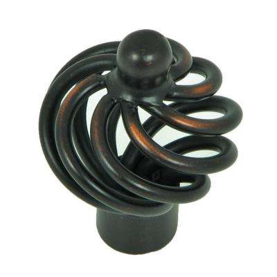 Coventry 1-3/8 in. Oil Rubbed Bronze Spiral Cage Cabinet Knob (25-Pack)