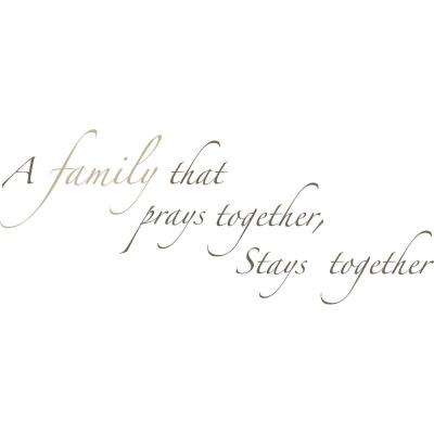 Brown Pray Together Wall Quote Decal