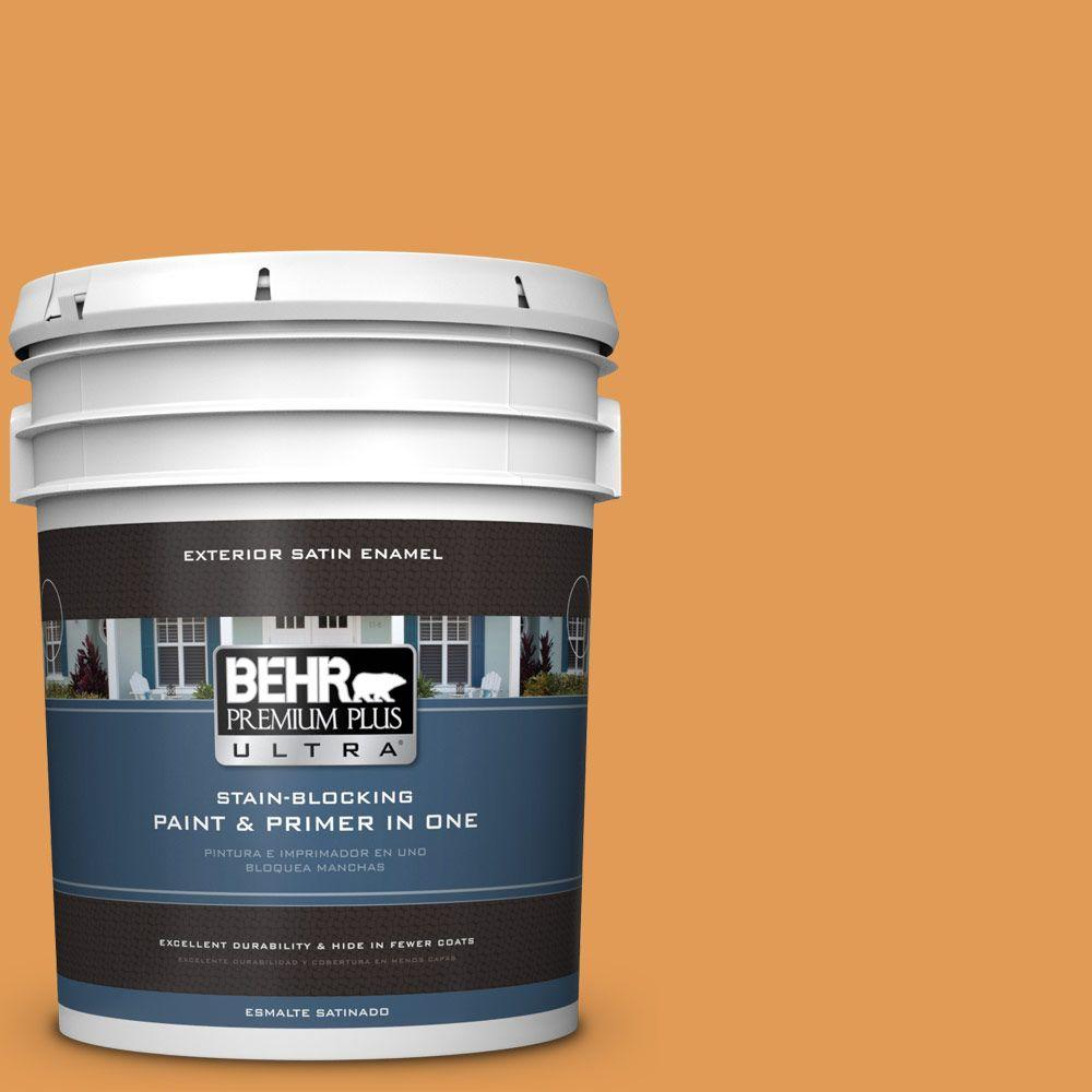 BEHR Premium Plus Ultra 5-gal. #290D-5 Apple Crisp Satin Enamel Exterior Paint