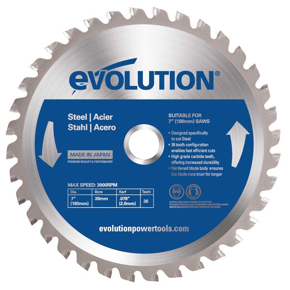 Evolution Power Tools 6-1/2 in. 40-Teeth Mild Steel Cutting Saw Blade
