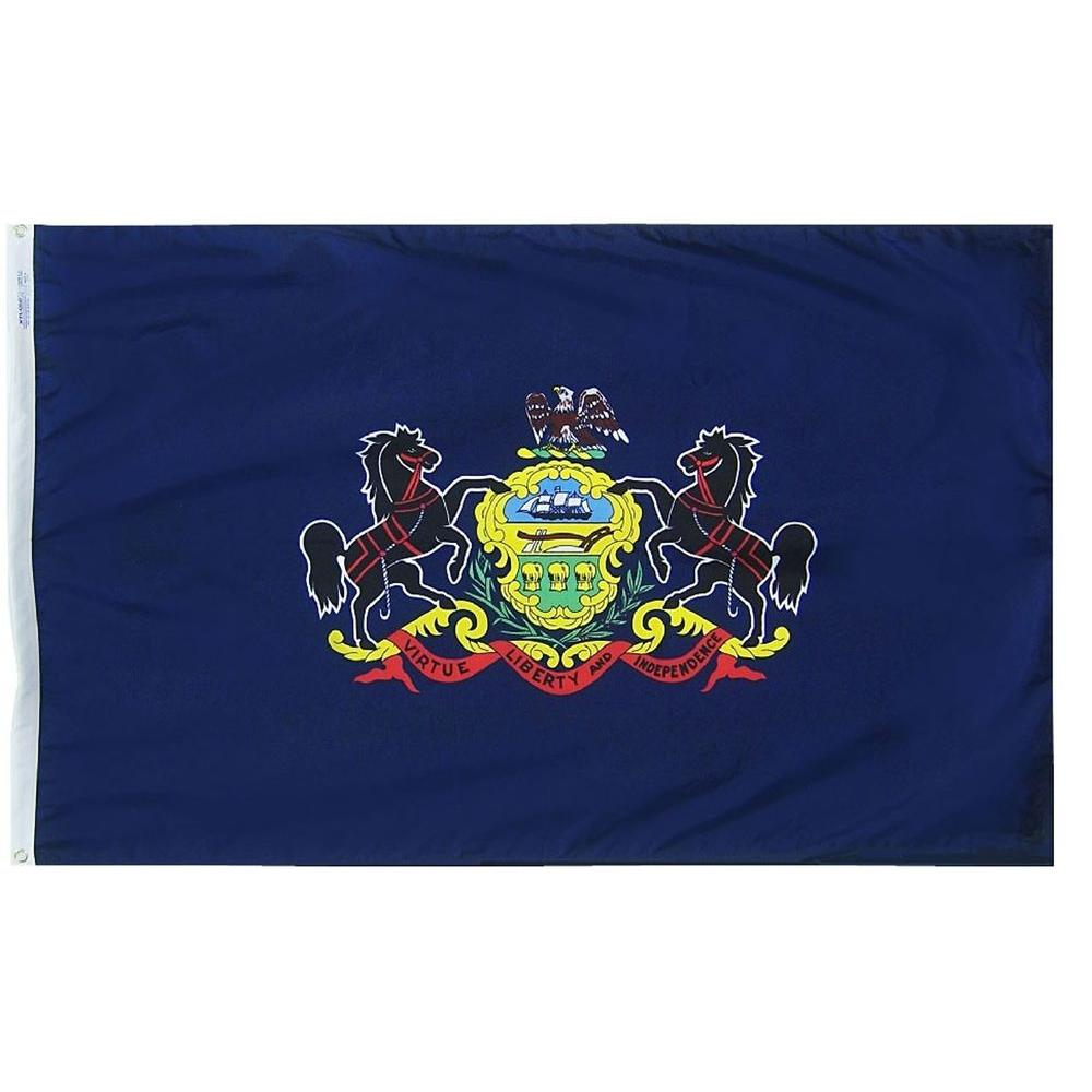 Annin Flagmakers 4 ft. x 6 ft. Pennsylvania State Flag