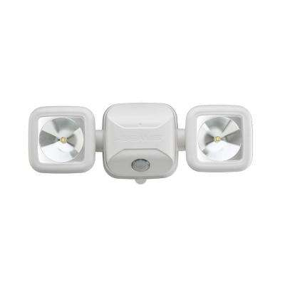 High Performance 500-Lumen White Battery Operated LED Motion Security Light