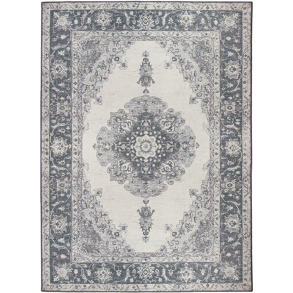 Washable Parisa Grey 5 Ft X 7 Stain Resistant Area Rug
