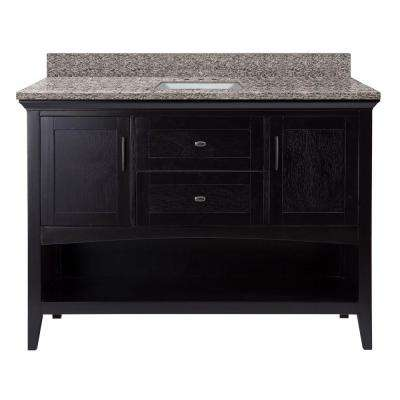 D Vanity in Espresso with Granite Vanity