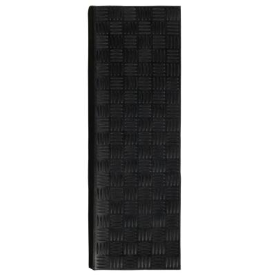 Dirt Off Black Square-Nosed 18 in. x 30 in. Rubber Stair Treads