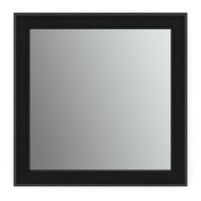 33 in. W x 33 in. H (L2) Framed Square Standard Glass Bathroom Vanity Mirror in Matte Black