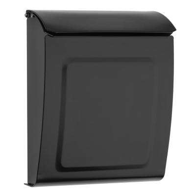 Aspen Locking Wall Mount Mailbox Black