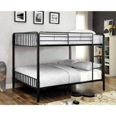 Clement Full/Full Size Bunk Bed in Black Finish