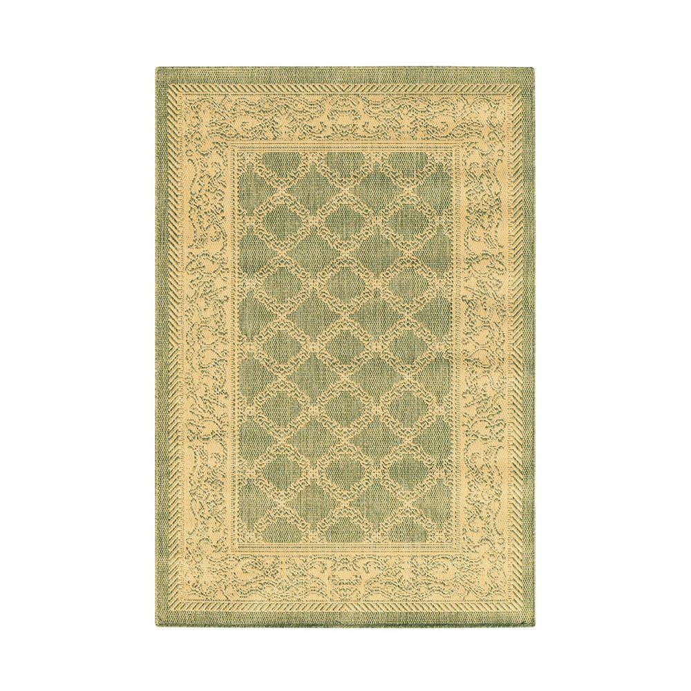 Home Decorators Collection Entwined Green/Natural 8 Ft. X