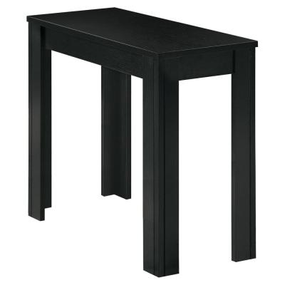 Jasmine 21.5 in. Black Particle Board, Laminate and MDF Accent Table