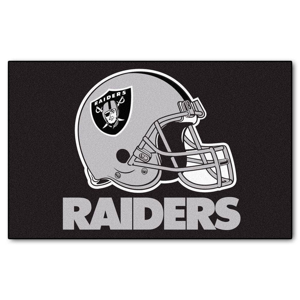 Fanmats Oakland Raiders 5 Ft X 8 Ft Ulti Mat 5940 The