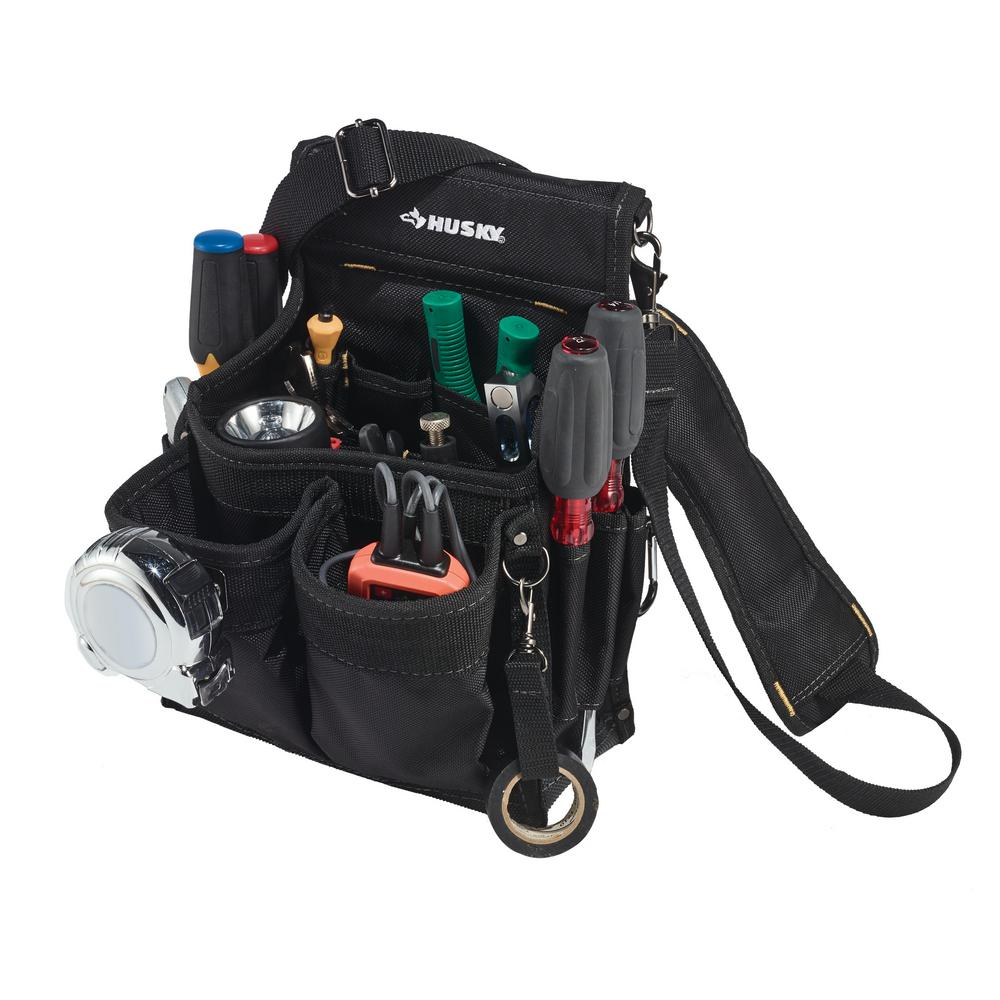 14 Pocket Electrician S Tool Pouch Black