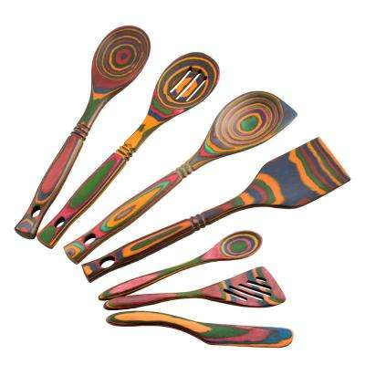 Pakka 7-Piece Rainbow Utensil Set