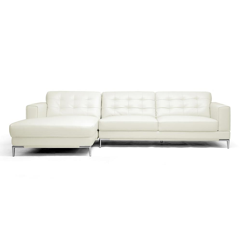 Baxton Studio Babbitt 2 Piece Contemporary White Faux