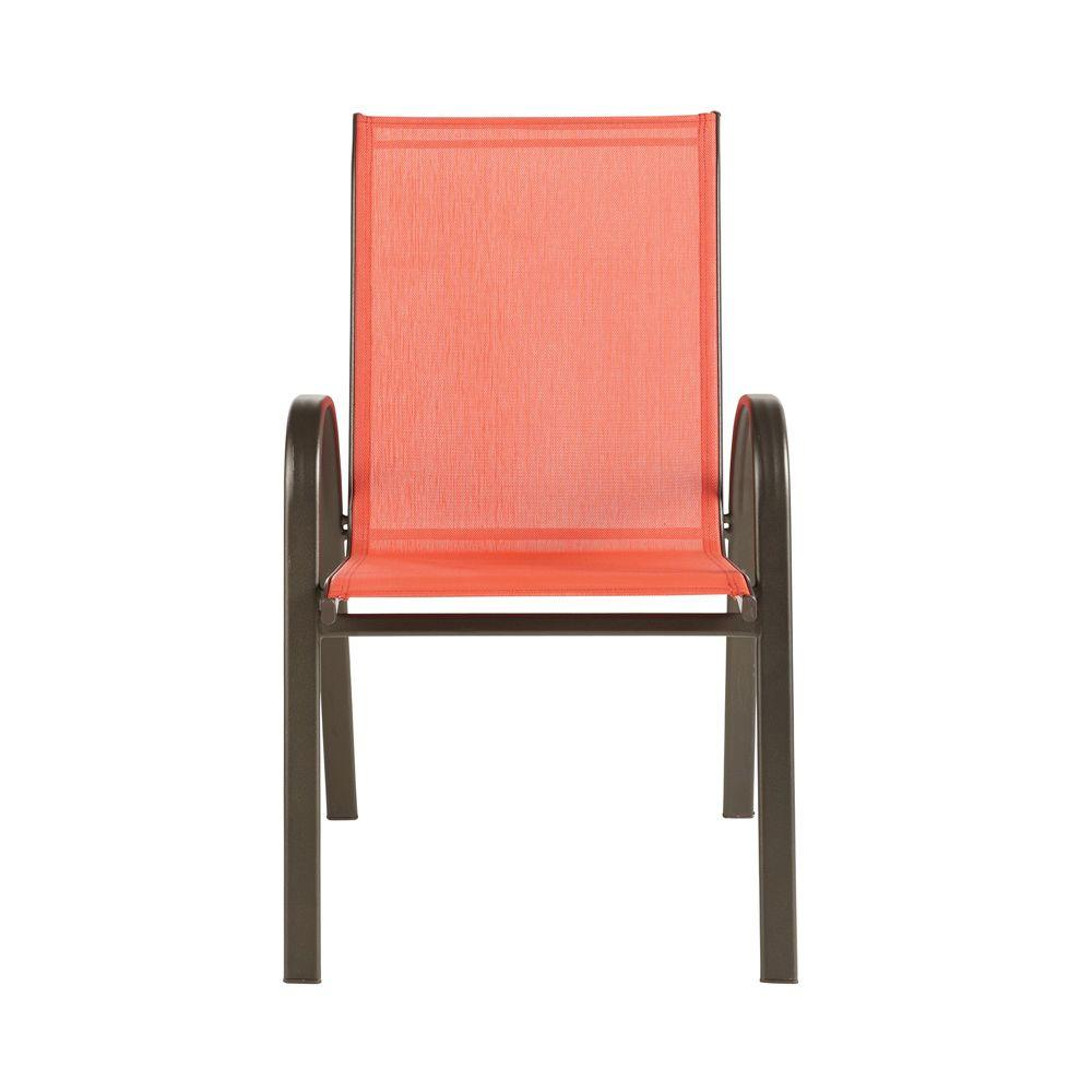Home Decorators Collection Patio Sling Chair Coral 2-Pack