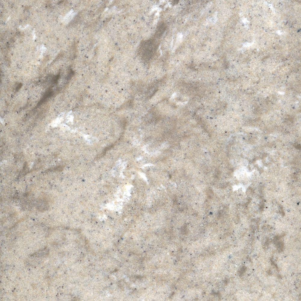 US Marble 3 in. Cultured Granite Vanity Top Sample in River Bottom