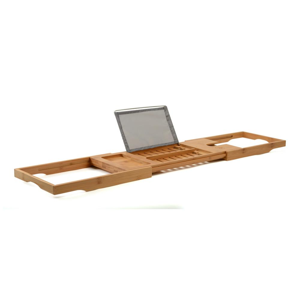 Bambusi Bamboo Bathtub Caddy with Extendable Sides