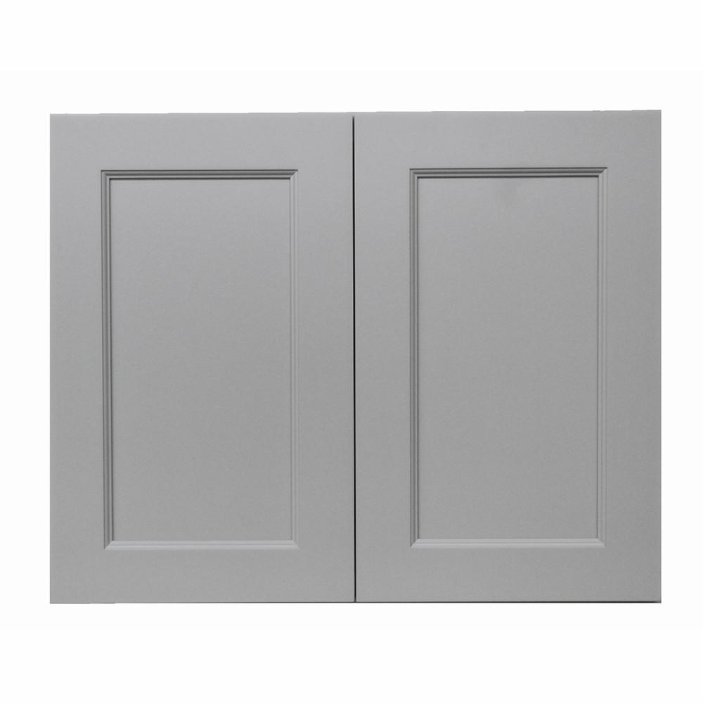Modern Craftsman Ready to Assemble 33x36x12 in. Wall Cabinet with 2-Door