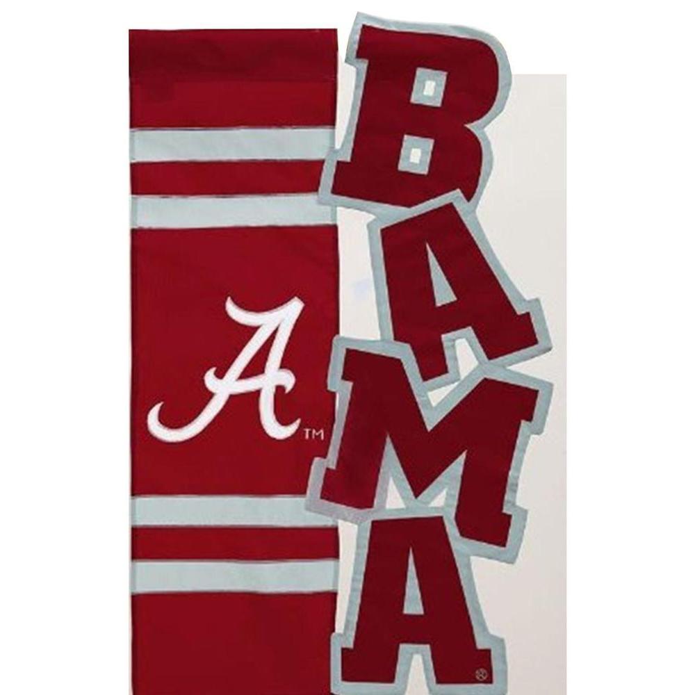 Evergreen Enterprises NCAA 12-1/2 in. x 18 in. Alabama Sculpted Garden Flag