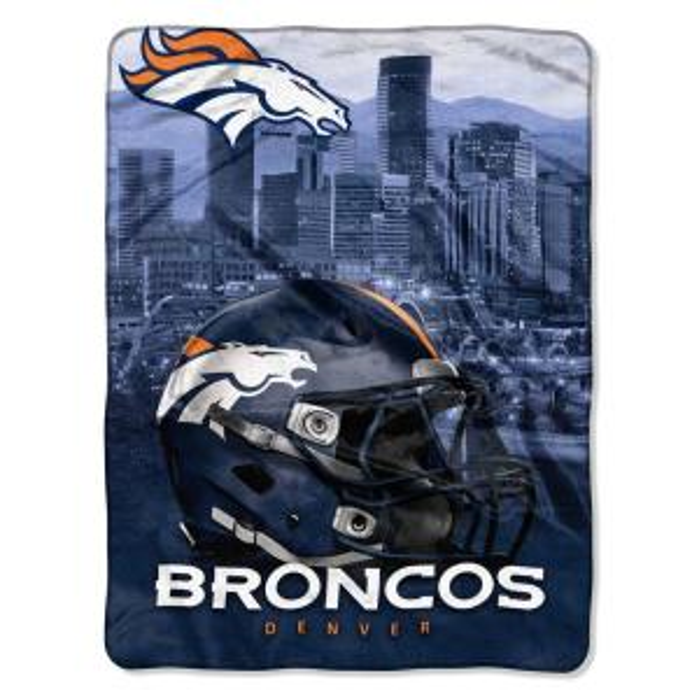 Denver Broncos Polyester Throw Blanket